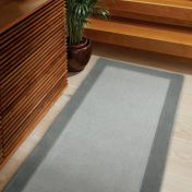 Borders Grey Wool Runner by Origins
