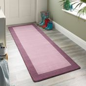 Borders Mauve Wool Runner by Origins