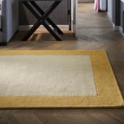 Borders Ochre Wool Rug by Origins
