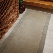 Borders Taupe Wool Rug by Origins
