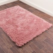 Boston Blush Plain Shaggy Rug by Ultimate Rug