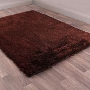 Boston Chocolate Plain Shaggy Rug by Ultimate Rug
