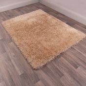 Boston Latte Plain Shaggy Rug by Ultimate Rug