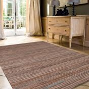 Brighton 098 0122 2001 99 Beige Striped Rug by Mastercraft