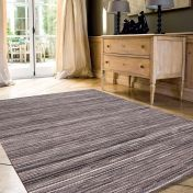 Brighton 098 0122 3000 99 Grey Striped Rug by Mastercraft