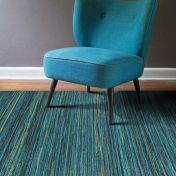 Brighton 098 0122 5000 99 Blue Striped Rug by Mastercraft