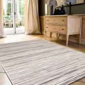 Brighton 098 0122 6000 96 Cream Striped Rug by Mastercraft