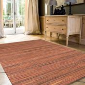 Brighton 098 0122 8000 99 Orange Striped Rug by Mastercraft