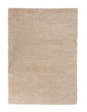 Brilliance Sparks Beige Plain Shaggy Rug by Flair Rugs