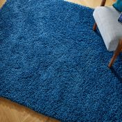 Brilliance Sparks Blue Plain Shaggy Rug by Flair Rugs
