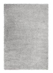 Brilliance Sparks Grey Plain Shaggy Rug by Flair Rugs