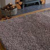 Brilliance Sparks Light Brown Plain Shaggy Rug by Flair Rugs