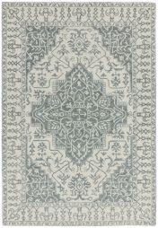 Bronte Fine Loop Silver Grey Wool Rug by Asiatic