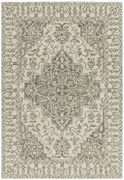 Bronte Fine Loop Smoke Wool Rug by Asiatic