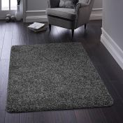 Buddy Charcoal Washable Plain Rug By Origins