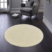 Buddy Cream Washable Plain Circle Rug By Origins