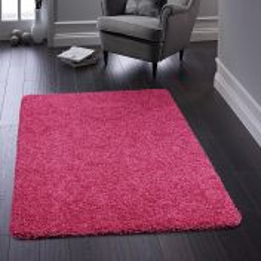 Buddy Pink Washable Plain Rug By Origins