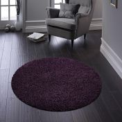 Buddy Purple Washable Plain Circle Rug By Origins