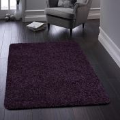 Buddy Purple Washable Plain Rug By Origins