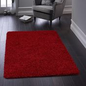 Buddy Red Washable Plain Rug By Origins