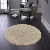 Buddy Stone Washable Plain Circle Rug By Origins