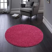Buddy Pink Washable Plain Circle Rug By Origins