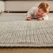 Cable Natural Wool Rug by Origins