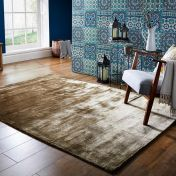 Cairo Bronze Plain Modern Luxmi Rug by Flair Rugs