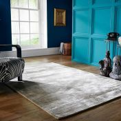 Cairo Champagne Plain Modern Luxmi Rug by Flair Rugs