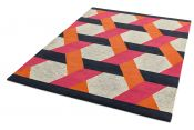 Camden Orange Wool Rug by Asiatic