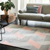 Camden Pink Wool Rug by Asiatic