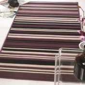 Element Prime Canterbury Purple Black Striped Rug by Flair Rugs