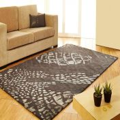 Unique Canyon Abstract Design Wool Rug by Prestige