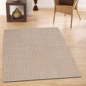 Carved Maze Mink Geometric Wool Rug By Origins