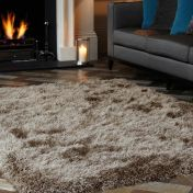 Cascade Taupe Luxury Polyester Rug by Asiatic