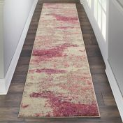 Celestial CES02 Ivory Pink Runner by Nourison