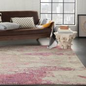 Celestial CES02 Ivory Pink Rug by Nourison