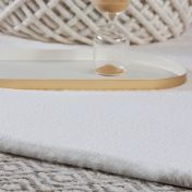 Cha Cha 535 Cream Shaggy Rug by Unique Rugs