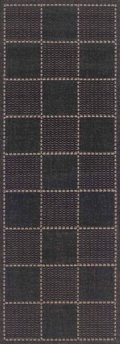 Checked Flatweave Black Runner By Oriental Weavers