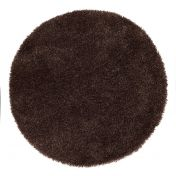 Chicago Chocolate Polyester Circle Rug by Origins