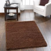 Chicago Chocolate Polyester Plain Rug by Origins
