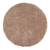 Chicago Latte Polyester Circle Rug by Origins