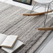 Chunky Knit Natural Grey Wool Rug by Origins