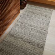 Chunky Knit Grey Wool Runner by Origins