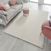 Cleo Ivory Plain Rug by Flair Rugs