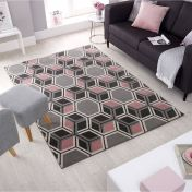Cocktail Mimosa Blush Pink Rug by Flair Rugs