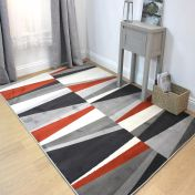 Cocktail Spritz Terracotta Geometric Modern Rug by Flair Rugs