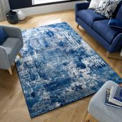 Cocktail Wonderlust Dark Blue Abstract Rug by Flair Rugs