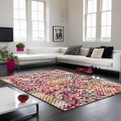 Colores COL12 Modern Chequered Rug By Asiatic