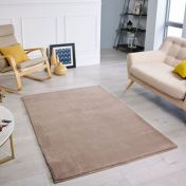 Comfy Mink Plain Shaggy Rug by Oriental Weavers